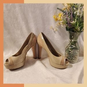 WHBM | Snakeskin, Patent & Suede 6.5 Pumps